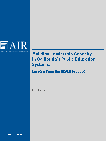 Lessons from the SCALE Initiative