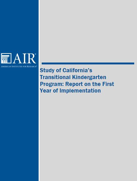 Study of California's Transitional Kindergarten Program