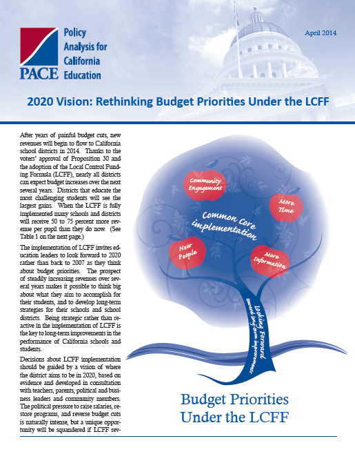 2020 Vision: Rethinking Budget Priorities Under the LCFF