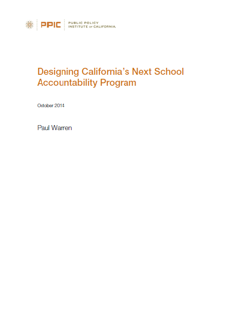 Designing California's Next School Accountability Program