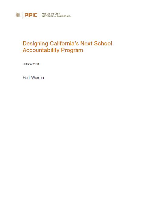 Designing California's Next School Accountability Program