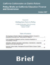 Policy Briefs on California Education Finance and Governance